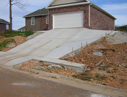 The bad architecture police zero tolerance on bad design for Steep driveway construction